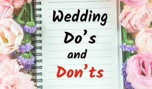 5 cose da non fare quando si organizza un matrimonio